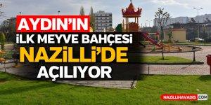 Aydın'ın ilk Meyve Bahçesi Parkı Nazilli'de açılıyor