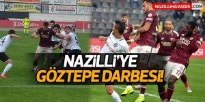 Nazilli evinde Göztepe'ye yıkıldı