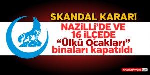 """Nazilli'de ve 16 ilçede """"Ülkü Ocakları"""" binaları kapatıldı"""