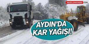 Aydın'da kar yağışı!