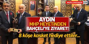 Aydın MHP Heyetinden Bahçeli'ye Ziyaret!