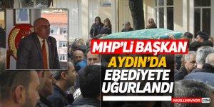 MHP'li başkan son yolculuğuna uğurlandı