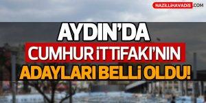 Aydın'da Belediye başkan adayları belli oldu!