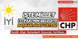 İşte Millet İttifakı'nın belediye başkan aday listesi!