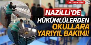 Hükümlülerden Okullara Yarıyıl Bakımı!