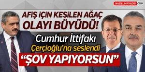 """Cumhur'dan Çerçioğlu'na """"ŞOV YAPIYORSUN"""""""