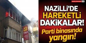 Nazilli'de Parti Binasında Yangın!