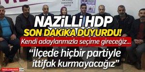Nazilli HDP Son Dakika Duyurdu!