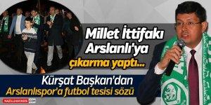 Arslanlı'ya futbol tesisi sözü