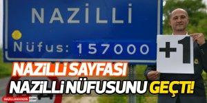 Nazilli Sayfası, Nazilli'nin nüfusunu geçti!