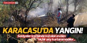 Karacasu'da yangın!