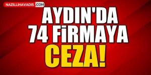 Aydın'da 74 firmaya ceza!