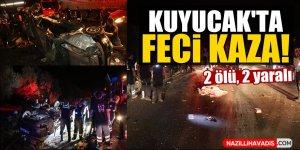 Kuyucak'ta feci kaza: 2 ölü, 2 yaralı
