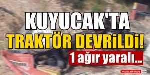 Kuyucak'ta Traktör Devrildi!