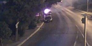 Bozdoğan'da araç kundaklama anı kamerada
