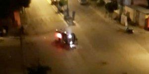 Nazilli'de polis aracı devrildi