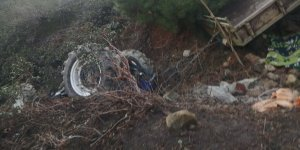 Aydın'da şarampole devrilen traktörün sürücüsü öldü