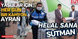 SÜTMAN'DAN VEFA GRUBU'NA AYRAN DESTEĞİ