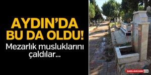 Aydın'da Mezarlıkta Çeşme Muslukları Çalındı