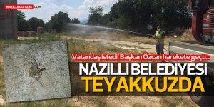 Nazilli'de mahalleler  akrep ve haşerelere karşı ilaçlandı