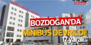 BOZDOĞAN'DA MİNİBÜS DEVRİLDİ! 17 yaralı...