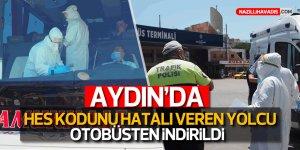 """Aydın'da """"HES"""" kodunu hatalı veren yolcu otobüsten indirildi"""