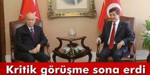 Davutoğlu ve Bahçeli'nin görüşmesi sona erdi