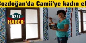 Bozdoğan'da Camii'ye kadın eli