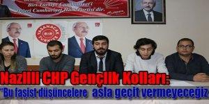 """Nazilli CHP Gençlik Kolları:""""Bu faşist düşüncelere asla geçit vermeyeceğiz."""""""