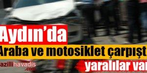 Arabayla Motosiklet Çarpıştı: Yaralılar Var!