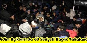 Didim Açıklarında 60 Suriyeli Kaçak Yakalandı