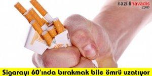 Sigarayı 60'ında bırakmak bile ömrü uzatıyor