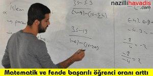 Matematik ve fende başarılı öğrenci oranı arttı