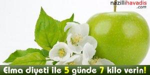 Elma diyeti ile 5 günde 7 kilo verin!