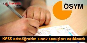 KPSS ortaöğretim sınav sonuçları açıklandı