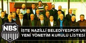 İşte Nazilli Belediyespor'un yeni yönetim kurulu listesi!