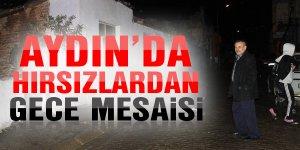 Aydın'da hırsızlardan gece mesaisi