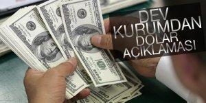 Dev kurumdan dolar açıklaması