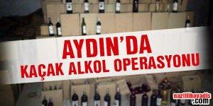 Aydın'da kaçak alkol operasyonu