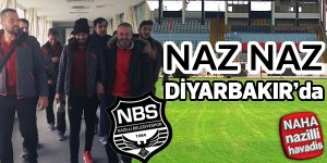 Naz-Naz Amedspor maçı için uçakla Diyarbakır'a gitti.