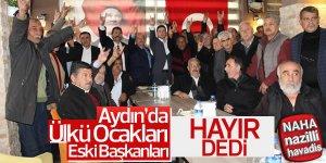 Aydın'da Ülkü Ocakları Eski Başkanları Hayır Dedi