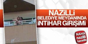 Nazilli'de şok intihar girişimi
