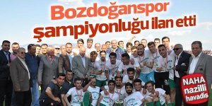 'Süper' şampiyon Bozdoğan