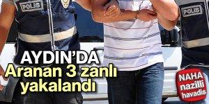 Aranan 3 zanlı polisten kaçamadı