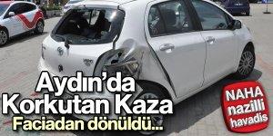 Aydın'da akılalmaz kaza