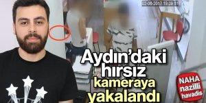 Hırsız güvenlik kameralarına yakalandı