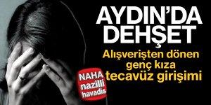 Aydın'da alışverişten dönen genç kıza taciz ve gasp
