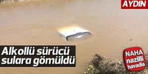Alkollü sürücü, otomobiliyle sulara gömüldü