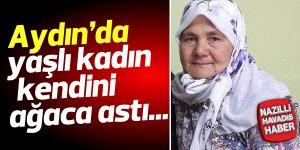 Yaşlı kadın, kendini zeytin ağacına astı