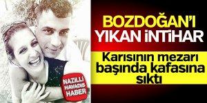 Bozdoğan'da karısının mezarında intihar etti!